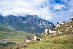 Dead town Dargavs in North Ossetia Stock Photos