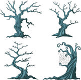 Dead tree collection set isolated on white Royalty Free Stock Photos