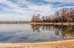 Dead Trees and Lake. Fallen dead trees around a lake Stock Photos