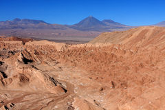 Amazing Death Valley with blue sky Stock Photos