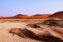 Dead valley in Namibia Royalty Free Stock Images