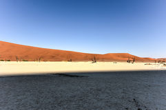 Dead Vlei, Namibia. Dead Vlei in the southern part of the Namib Desert, in the Namib-Naukluft National Park of Namibia Royalty Free Stock Image