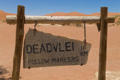 Free Dead Vlei Sign Royalty Free Stock Image - 53261716