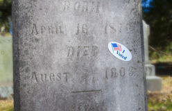 Dead voter Royalty Free Stock Photography