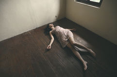 Dead woman Royalty Free Stock Image
