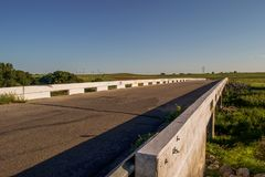 Dead Woman Crossing bridge. Haunted Dead Woman Crossing bridge off of Route 66 near Weatherford Oklahoma stock photo