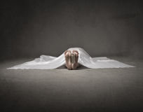 Dead woman foot Royalty Free Stock Photos
