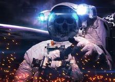 DeadAstronaut в космическом пространстве Элементы этого Стоковое фото RF