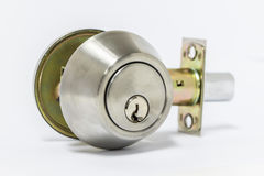 Deadbolt lock Royalty Free Stock Photography