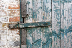 Deadbolt sur la porte Images stock