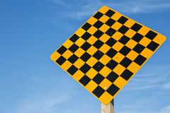 Deadend warning road sign Royalty Free Stock Image