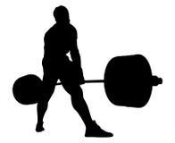 Deadlift d'exercice de powerlifter d'athlète Images stock