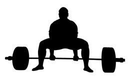 Deadlift d'exercice de powerlifter d'athlète Photos stock