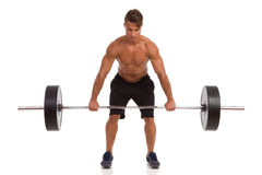 Deadlift Exercise Front View Royalty Free Stock Images