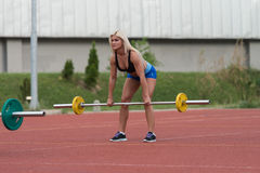 Deadlift Exercise Outdoor Royalty Free Stock Image