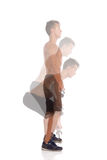 Deadlift Exercise Side View Stock Photo