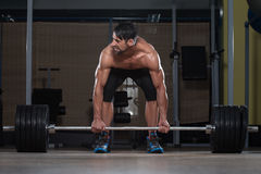 Deadlift Workout For Back Royalty Free Stock Image