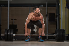 Deadlift Workout For Back Stock Photos