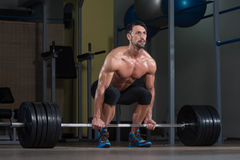 Deadlift Workout For Back Stock Photo