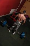 Deadlift Zware Gewichten Royalty-vrije Stock Afbeelding