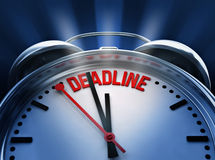 Deadline. Alarm clock (3d illustration Stock Photography