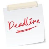 Deadline. A handwritten notes with deadline message Stock Photos