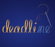 Deadline. Not ready yet? Typography made with ribbon letters Royalty Free Stock Photography