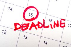 Deadline Royalty Free Stock Photos