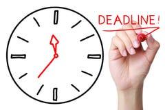 deadline fotografia de stock