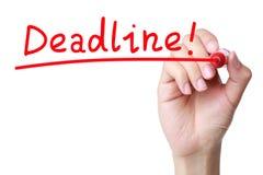 deadline royalty-vrije stock fotografie