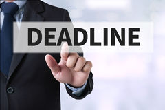 deadline imagens de stock royalty free