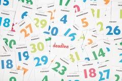 deadline imagem de stock royalty free