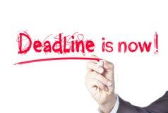 deadline imagem de stock