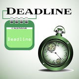 Deadline Royalty Free Stock Photo