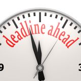 Deadline ahead clock Royalty Free Stock Photo