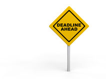 Deadline ahead warning sign Royalty Free Stock Image
