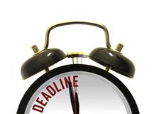 Deadline alarm clock Royalty Free Stock Images