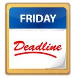 Deadline calendar illustration design Royalty Free Stock Images