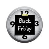 Deadline Clock for Start Black Friday Shopping S Stock Photo
