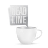 Deadline and coffee mug concept illustration Royalty Free Stock Photos
