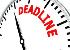 Deadline is coming Royalty Free Stock Image