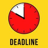 Deadline concept clock illustration Stock Image