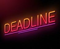 Deadline concept. Stock Image