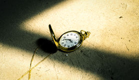 Deadline concept pocket watch background Royalty Free Stock Image