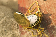 Deadline concept pocket watch background Stock Photo