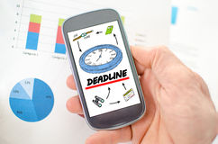 Deadline concept Royalty Free Stock Photography