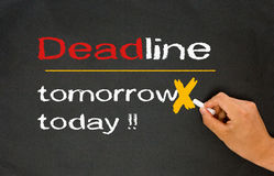 Deadline concept: today Royalty Free Stock Image