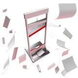 Deadline conception: guillotine as a deadline. Isolated on white stock illustration