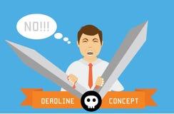 Deadline conceptual illustration. Royalty Free Stock Photography