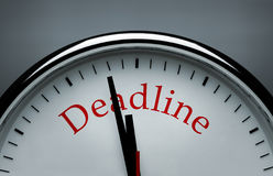 Deadline conceptual image Royalty Free Stock Photo